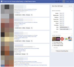Image from Actual Facebook Graph Searches